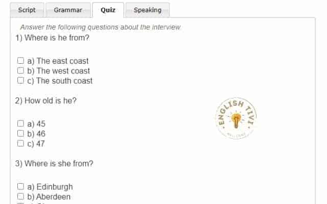 learning english exercises