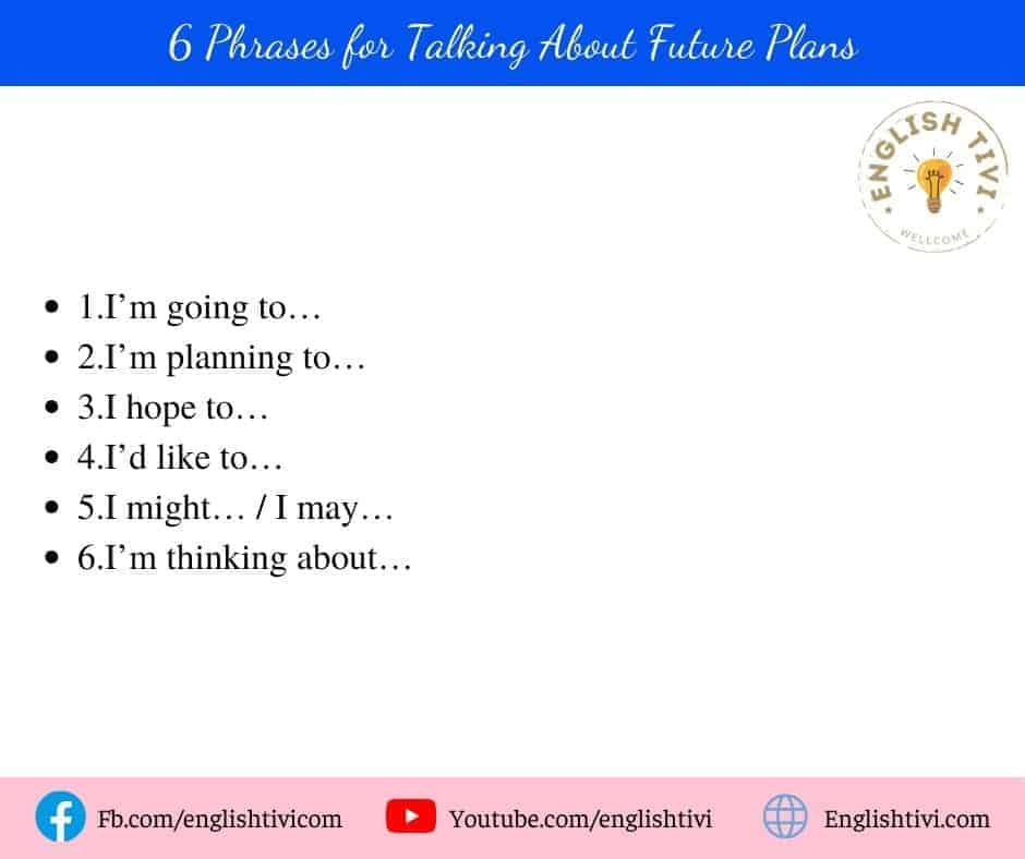 6 English Phrases for Talking About Future Plans