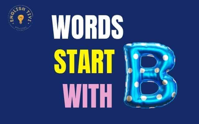 Words-Start-with-B