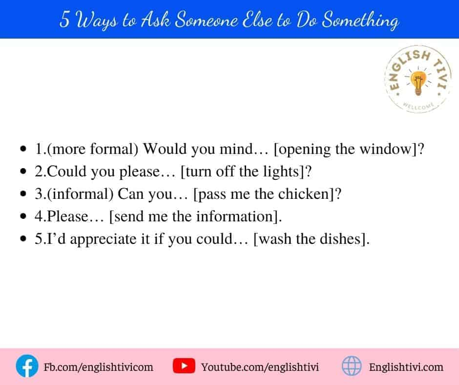 5 Ways to Ask Someone Else to Do Something daily use english phrases
